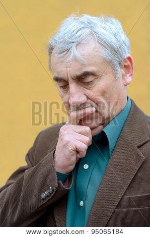 Senior Man Pondering