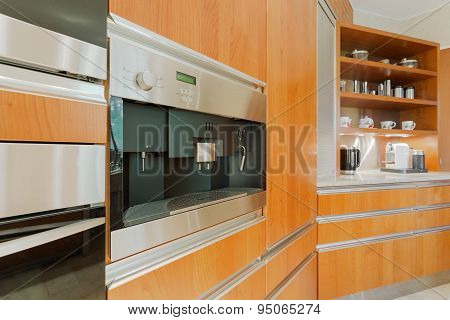 Kitchen Unit With Coffeemaker
