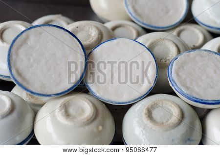 Coconut Milk Custard In Small Porcelain Cup