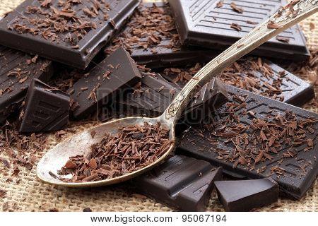 Powdered dark chocolate