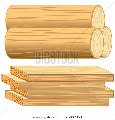 Boards and log