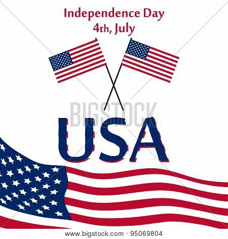 Independence Day USA Simple Card