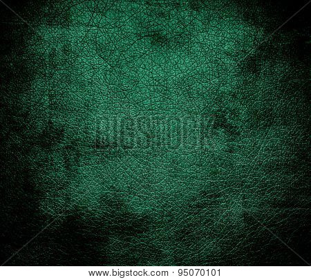 Grunge background of Bangladesh green leather texture