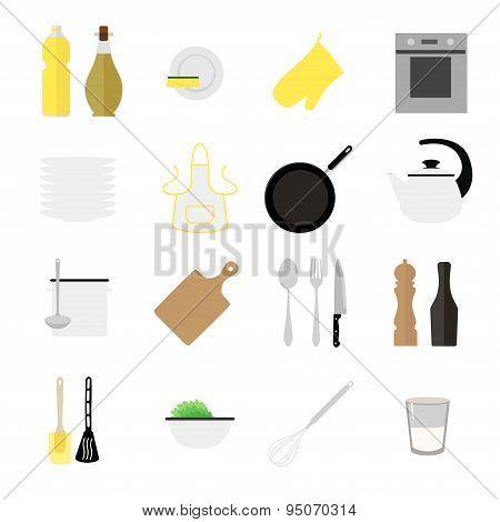 Flat Kitchen Icons