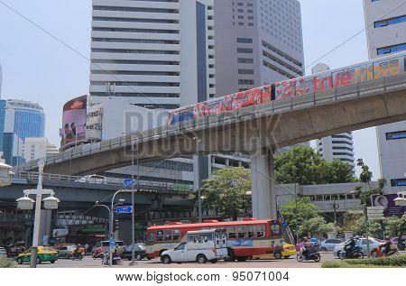 Bangkok cityscape traffic
