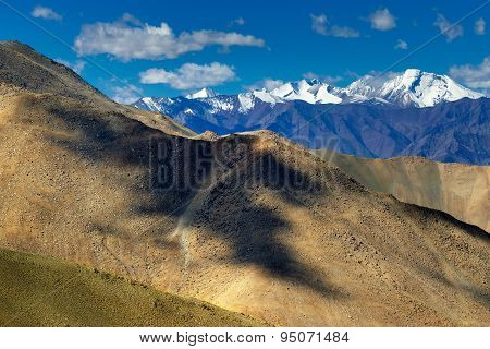 Rocky Landscape At Changla Pass, Play Of Light And Shadow, Leh, Ladakh, Jammu Kashmir, India