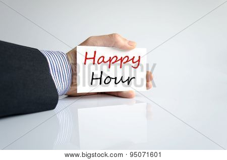 Happy Hour Text Concept