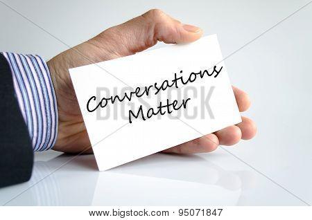 Conversation Matter Text Concept