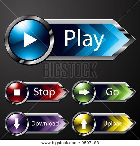 Chrome Media Menu Buttons