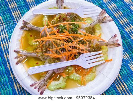 Shrimp In Fish Sauce, Food Thai Style