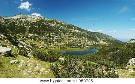 Panorama Of Pirin National Park, Bulgarian Unesco Heritage, Mountains Are Named After Perun