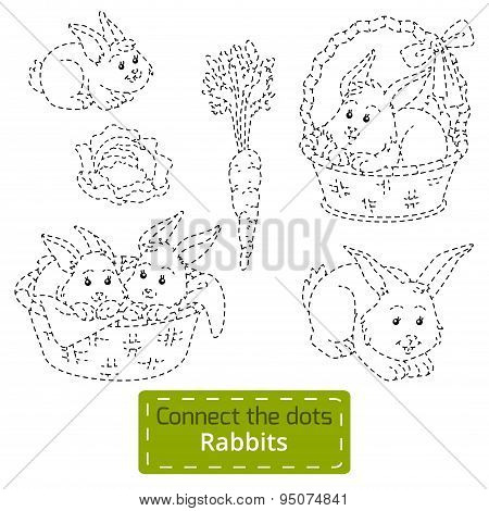 Connect The Dots (farm Animals Set, Rabbits Family)