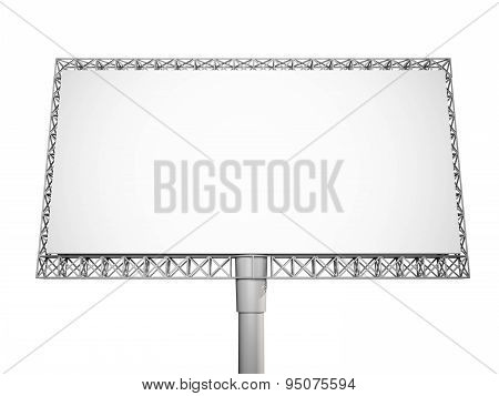 3d rendered, Blank billboard on white background