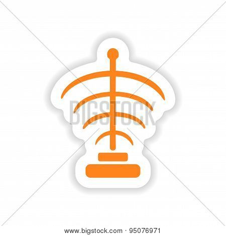 icon sticker realistic design on paper mystical symbols