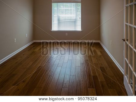 Light Shining On Hardwood Floor