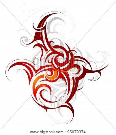 Fire flame tattoo