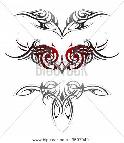 Body art tattoo set