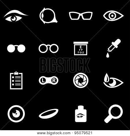 Vector White Optometry Icon Set