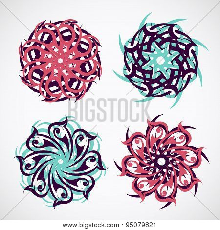 Circle ornament with ethnic motives