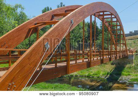Modern Wooden Bridge