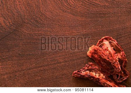 Dry Tomato On A Cutting Board