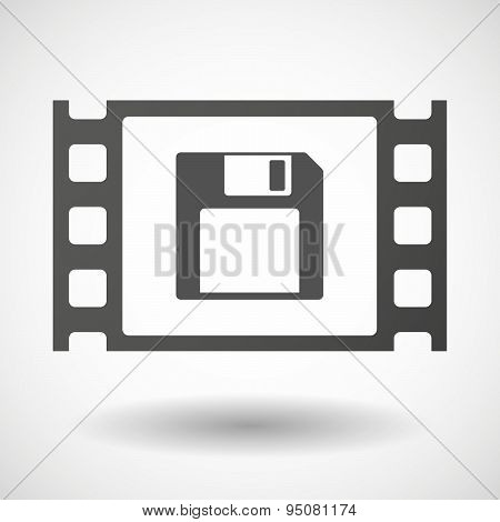 35Mm Film Frame With A Floppy Disk