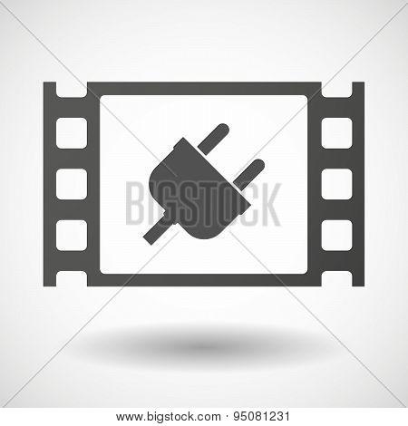 35Mm Film Frame With A Plug