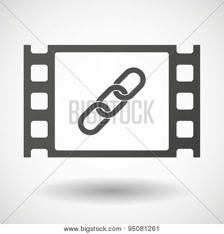 35Mm Film Frame With A Chain