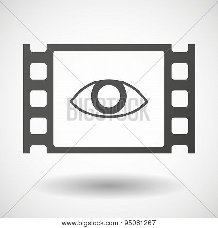 35Mm Film Frame With An Eye