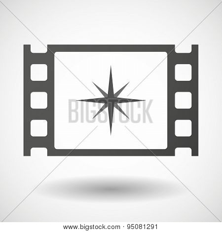 35Mm Film Frame With A Sparkle