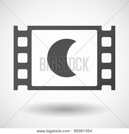 35Mm Film Frame With A Moon