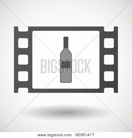 35Mm Film Frame With A Bottle Of Wine