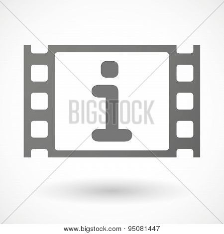 35Mm Film Frame With An Info Sign