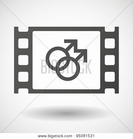 35Mm Film Frame With A Gay Sign
