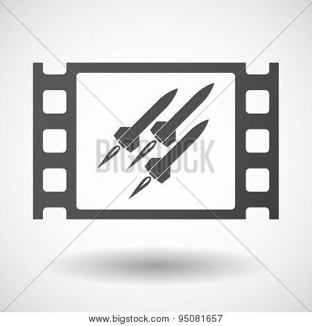 35Mm Film Frame With Missiles