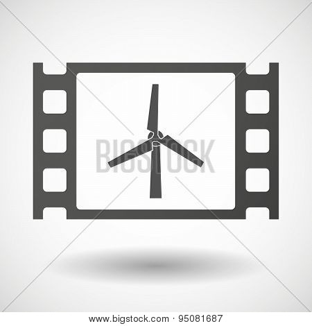 35Mm Film Frame With A Wind Generator