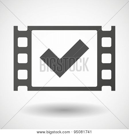 35Mm Film Frame With A Check Mark