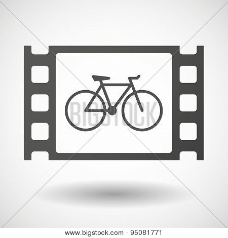 35Mm Film Frame With A Bicycle