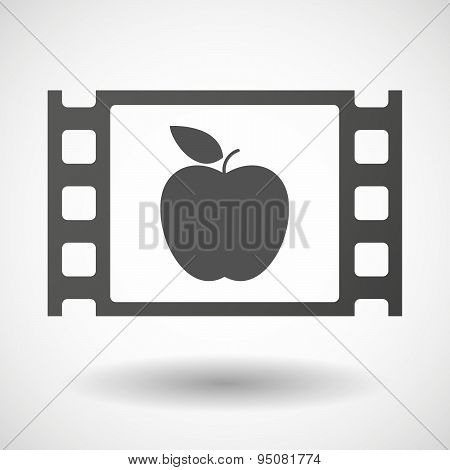 35Mm Film Frame With An Apple