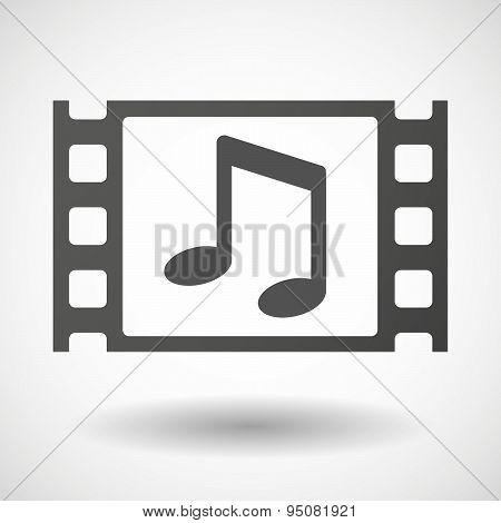 35Mm Film Frame With A Note Music