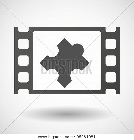 35Mm Film Frame With A Puzzle Piece