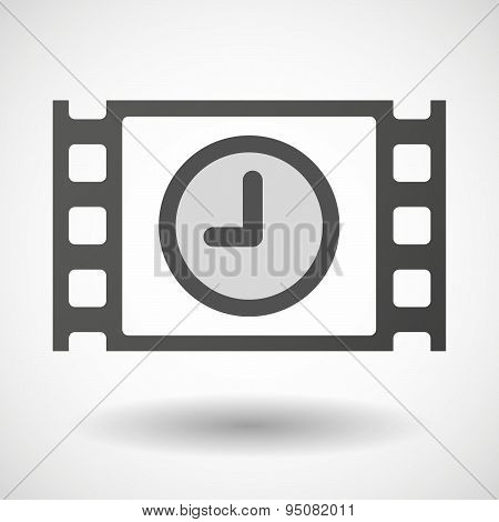 35Mm Film Frame With A Clock