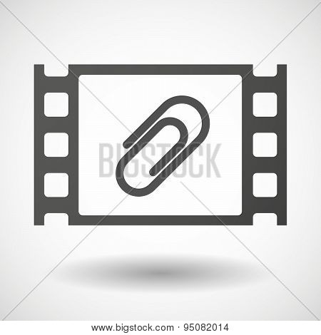 35Mm Film Frame With A Clip