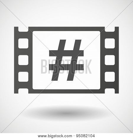 35Mm Film Frame With A Hash Tag