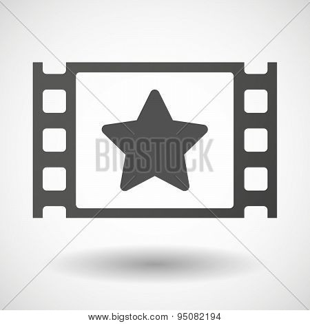 35Mm Film Frame With A Star