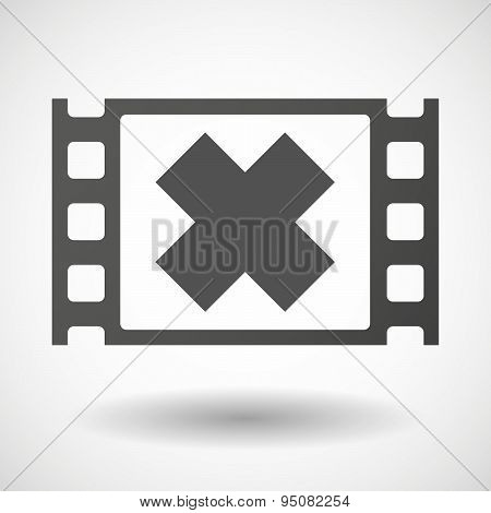 35Mm Film Frame With An Irritating Substance Sign