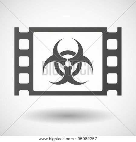 35Mm Film Frame With A Biohazard Sign