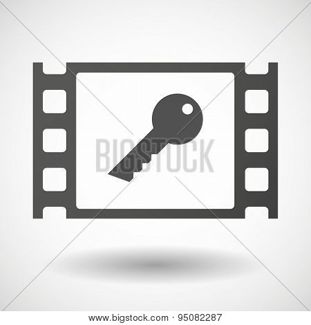 35Mm Film Frame With A Key