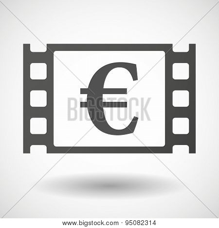 35Mm Film Frame With An Euro Sign