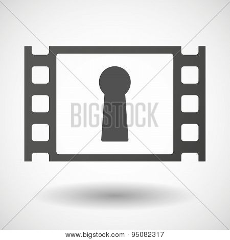 35Mm Film Frame With A Key Hole